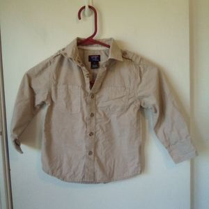 Authentic graphite boys tan shirt size 4